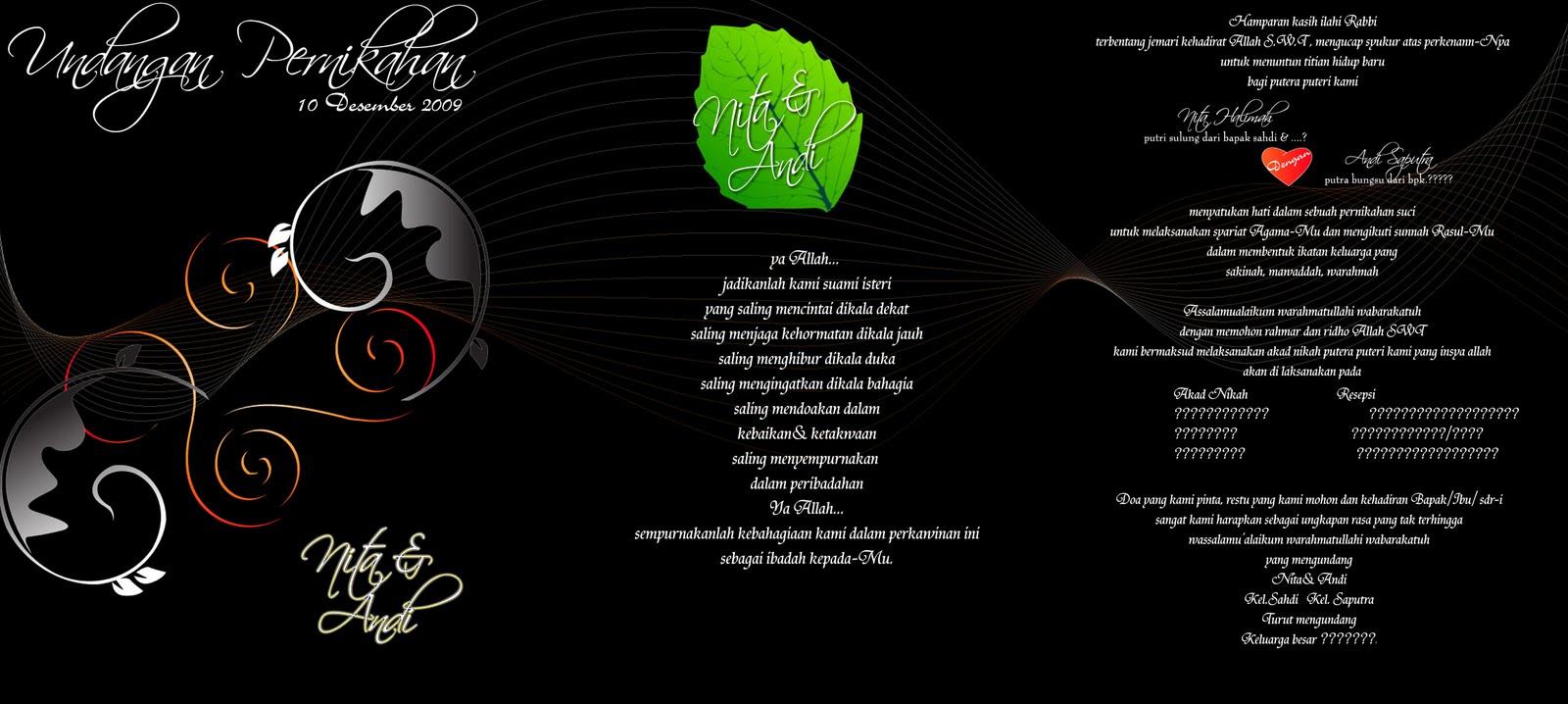 Desain kartu undangan (Adobe Ilustrator CS3)