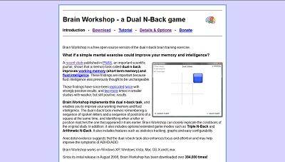 Brain Workshop, Medical Games