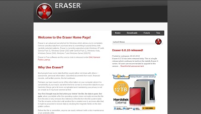 Eraser, Security Software